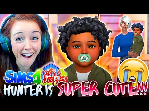 😵🎯HUNTER KILLS ME WITH CUTENESS 😵🎯The Sims 4 CATS & DOGS 19 🏖