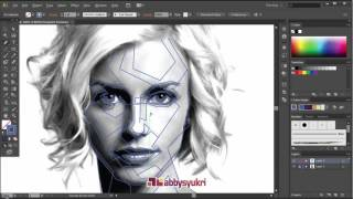 Adobe Illustrator - Monocrome/Grayscale step of WPAP