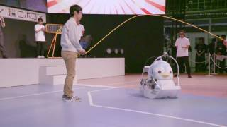 [World Record] Most skips by a robot in one minute (HIGH-SPEED) -じゃんぺん・世界記録への挑戦(ハイスピード)-
