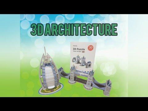 3D building puzzle | 3D burj Al Arab | 3D Tower Bridge | MUMUSO DUBAI |