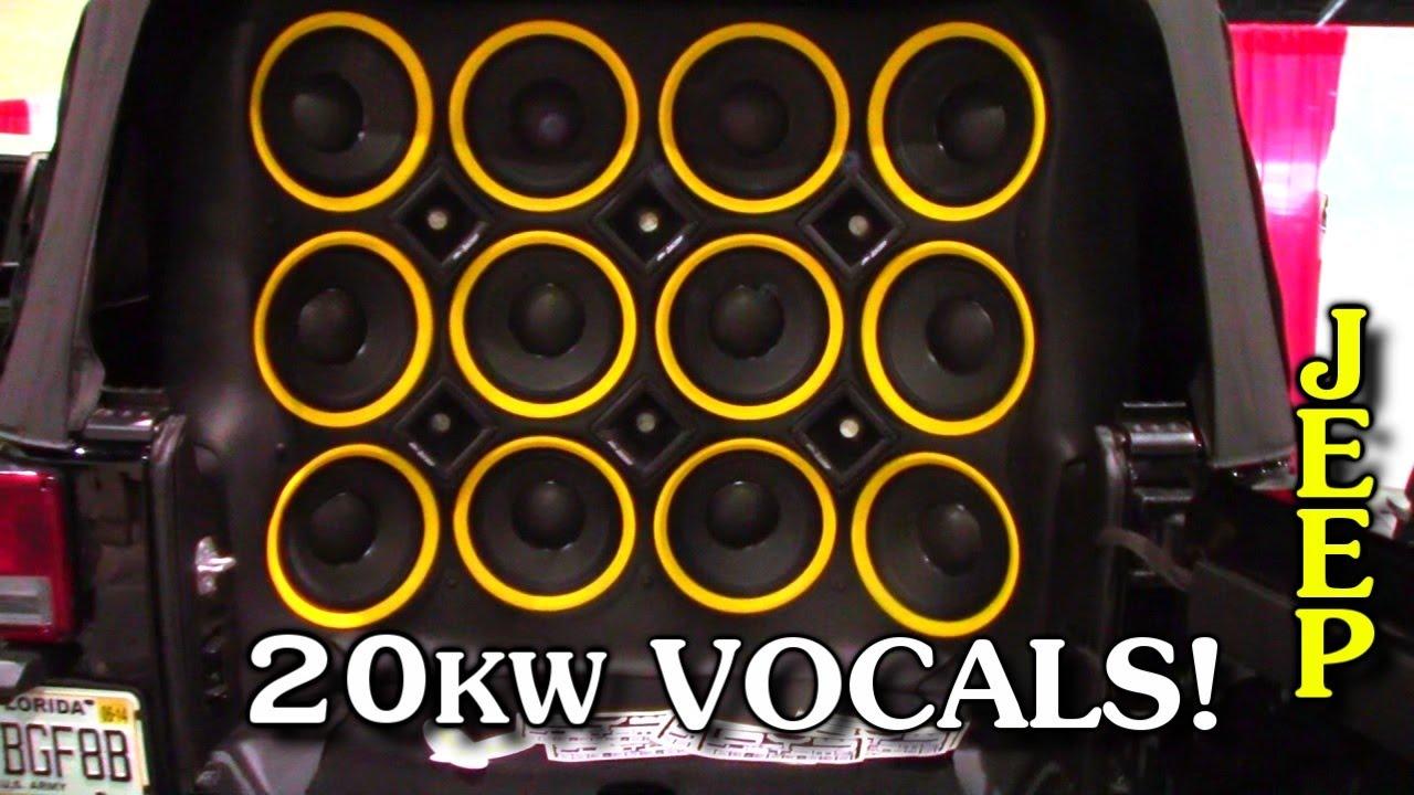 20,000 Watt Sound System w/ Woodys McLaren Audio Vocal ...