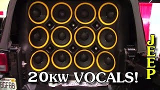 20,000 Watt Sound System w/ Woodys McLaren Audio Vocal Install | CRAZY LOUD Mids & Highs Setup DEMO