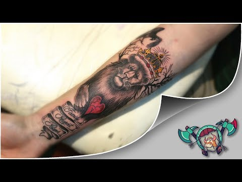 Lion King Tattoo Time Lapse - Loktar Tattoo Timisoara