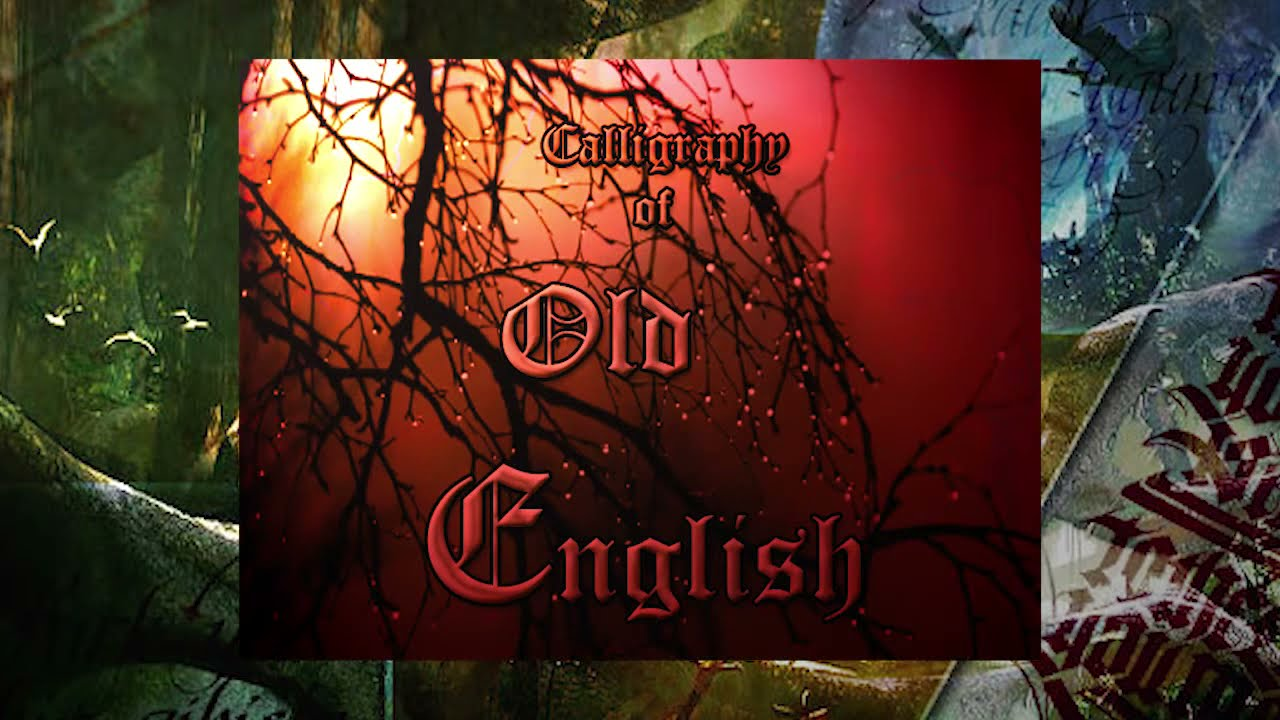 Calligraphic Letter A Old English Youtube