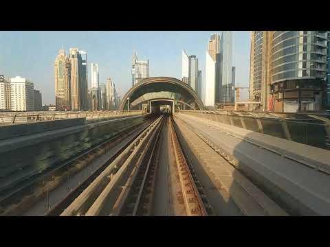 Dubai metro red line timelapse