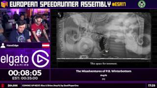 #ESA17 Speedruns - The Misadventures of P.B. Winterbottom [Any%] by HaosEdge