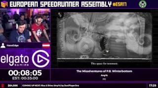#ESA17 Speedruns - The Misadventures of P.B. Winterbottom [Any%] by HaosEdge