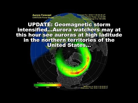SOLAR ACTIVITY UPDATE: G2-GEOMAGNETIC STORM/Nov 5th, 2018.