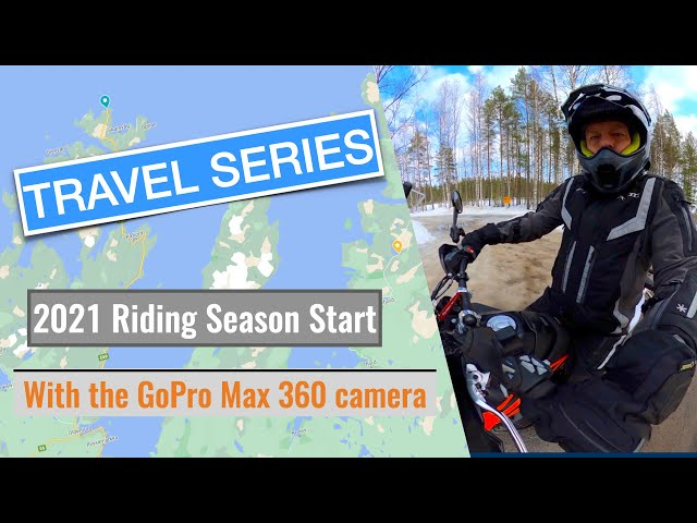 My first ride in this season with the KTM 790 Adventure and the GoPro Max