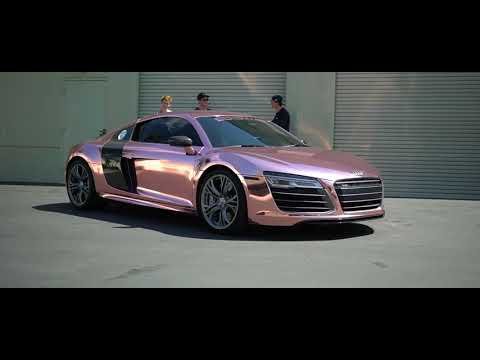 TANNER BRAUNGARDT'S  AUDI R8 Reveal!!! ROSE GOLD CHROME SD WRAP