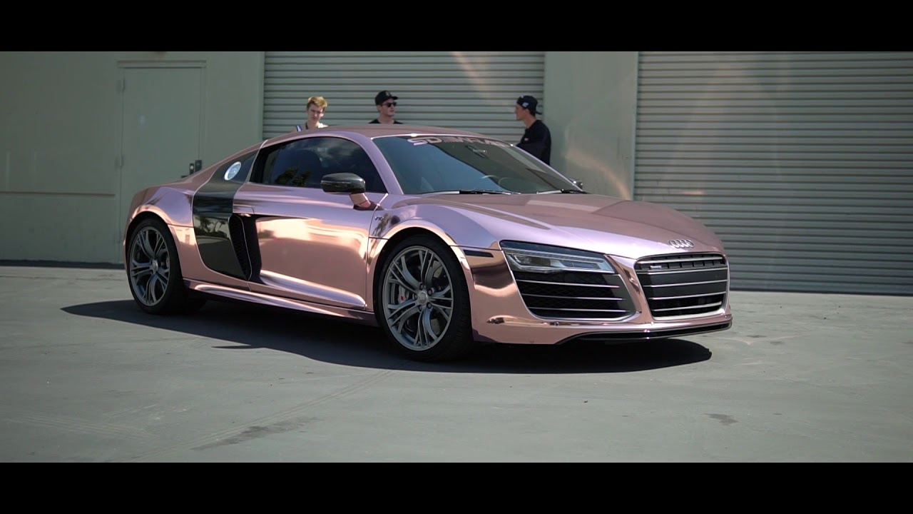 Tanner Fox Car Wallpaper Tanner Braungardt S Audi R8 Reveal Rose Gold Chrome Sd