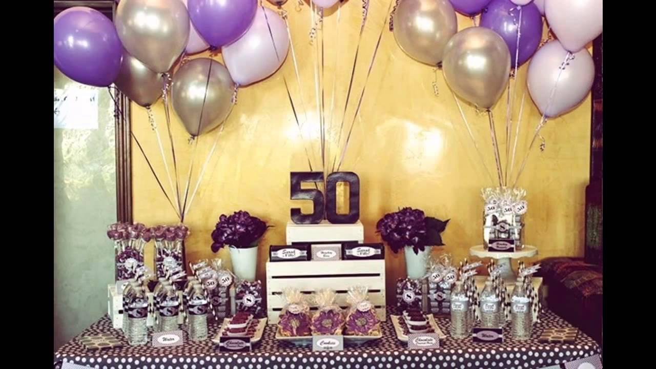 50th birthday party ideas youtube for 50 birthday party decoration