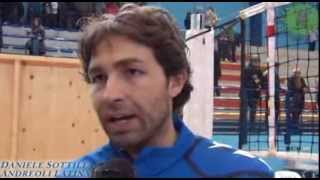 09-02-2014: Daniele Sottile nel post Exprivia Molfetta-Andreoli Latina 2-3