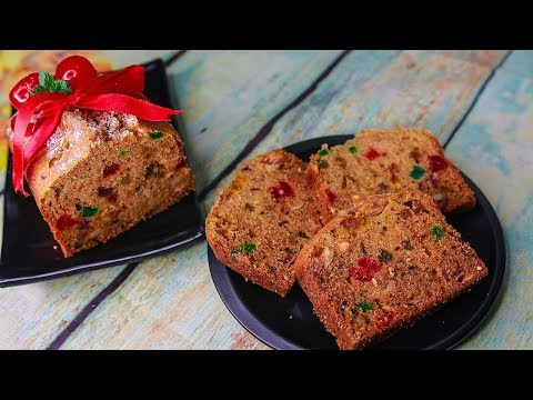 Christmas Plum Cake | Eggless & Without Oven | Buttermilk Christmas Plum Cake