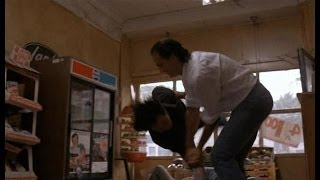 Above The Law: Fight scene in the Indian's store.