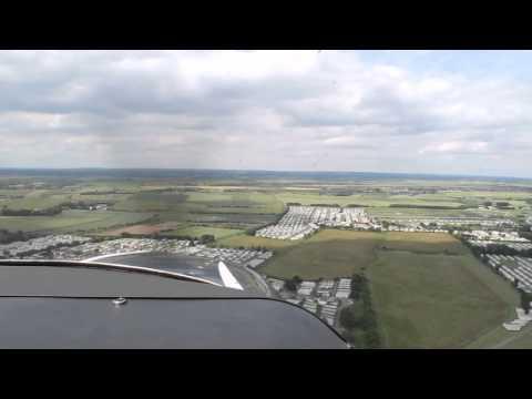 G- RCHE Cessna182 Landing Skegness 11th July 2015