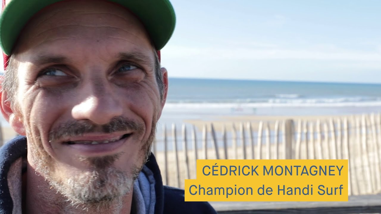 Cedrick Montagney - Girondin champion de Handi Surf