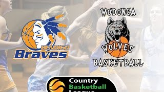 CBL 24.10.15 Bendigo Lady Braves vs Wodonga Lady Wolves
