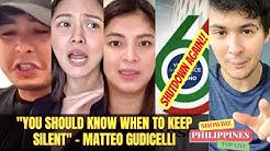 Matteo Guidicelli PATAMA kina COCO MARTIN, KIM CHIU at ANGEL LOCSIN ABS CBN Shutdown