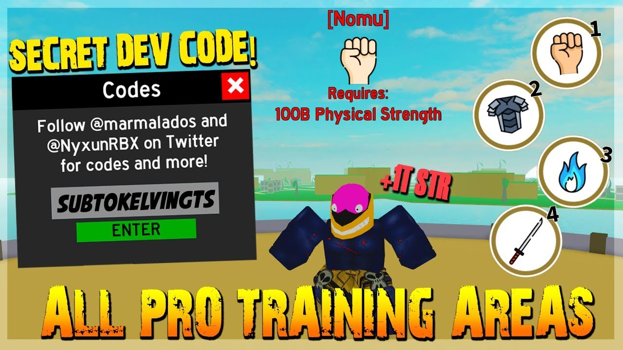 Killer Instinct Roblox Code All New Pro Training Areas Owner Special Free Codes In Anime Fighting Simulator Roblox Youtube