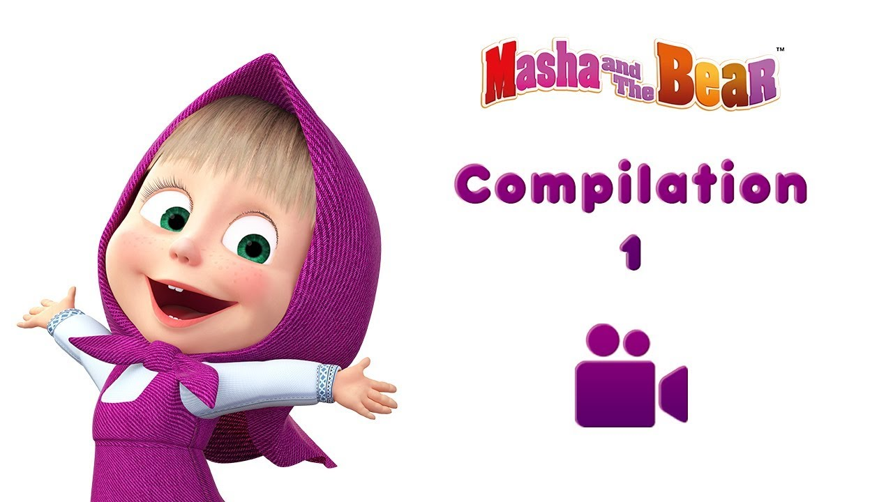 Masha And The Bear Music Clips Song Compilation 1 5 Songs Best Nursery Rhymes Songs Youtube