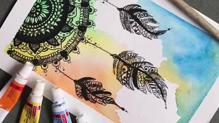 Dreamcatcher mandala |painting | speed drawing