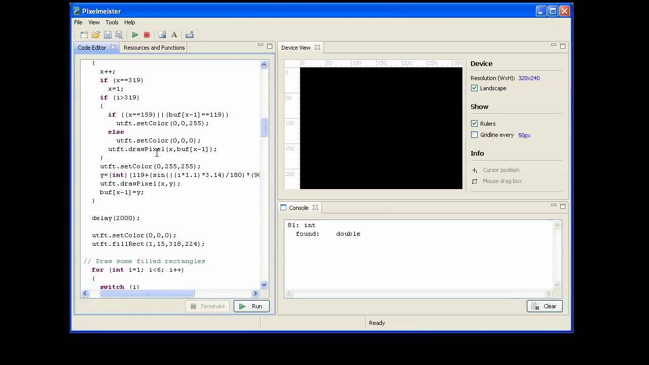 Running utft library demo with pixelmeister doovi