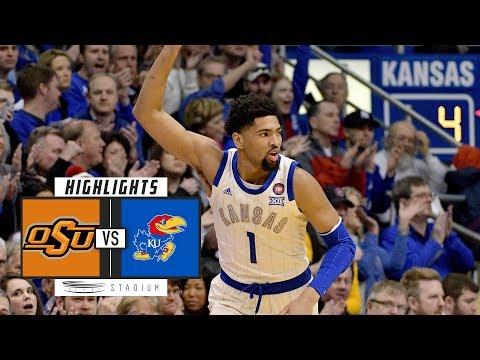 Oklahoma State Vs. No. 13 Kansas Basketball Highlights (2018-19) | Stadium