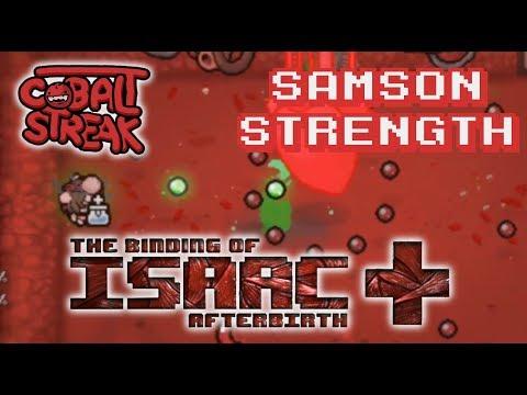 Afterbirth+ Unlocks #10 - Samson Strength - Cobalt Streak