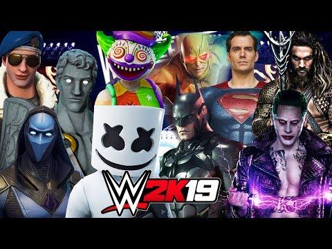 FORTNITE vs DC UNIVERSE ROYAL RUMBLE | WWE 2K19 Gameplay