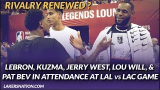 Lakers Summer League: LeBron, Kuz, Jerry West, Lou Will, &  Pat Beverley in Attendance at LAL vs LAC