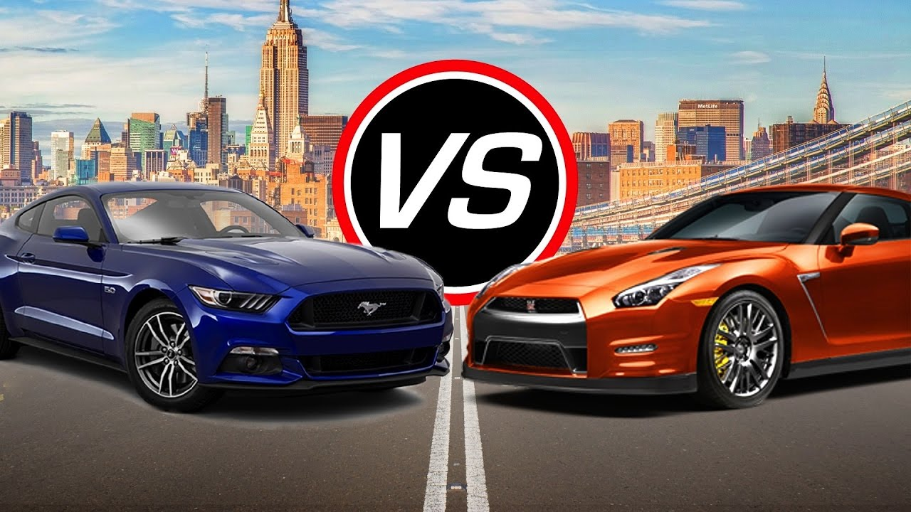 2016 ford mustang gt vs nissan gt r spec comparison