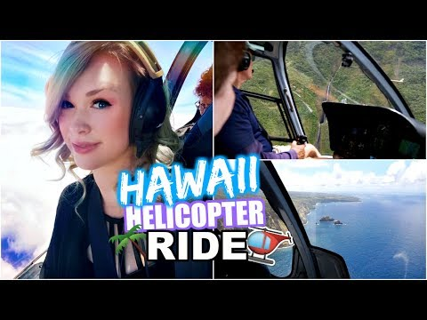 EXPLORING HAWAII IN A HELICOPTER!!  🚁 | Travel With Me to Hawaii (pt 3)