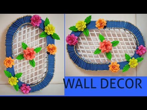 DIY Simple Paper Wall Hanging I Wall Decor Idea I Easy Room Decor