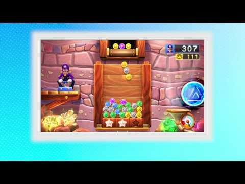 MARIO PARTY 10 ~ BONUS GAMES ~ JEWEL DROP ~ SINGLE PLAYER ~ AS WALUIGI - NO COMMENTARY