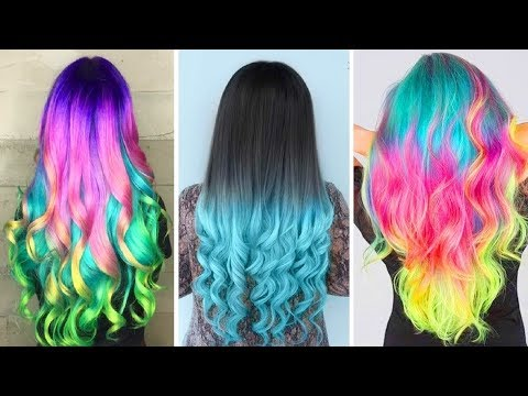 NEW Crazy Hair colour transformation - MUST SEE 2018, Hairstyle Tutorials,Hair Colour Compilation p1