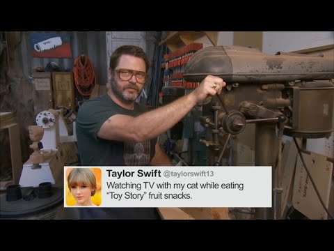 Nick Offerman Reads Tweets From Young Female Celebrities Vol. 2 - CONAN on TBS