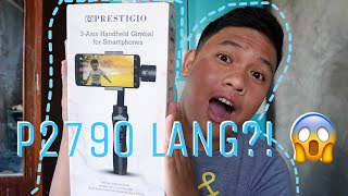 UNBOXING AND REVIEW: PRESTIGIO 3-AXIS GIMBAL FROM KIMSTORE (Philippines) | RogerAriel