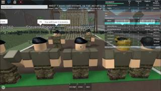My First Training - ROBLOX British Army Academy