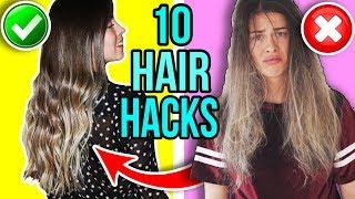 10 NEUE HAIR HACKS DIE JEDES MÄDCHEN KENNEN SOLLTE! 💇🏻😍  Schnelle Frisuren, lange Haare bekommen