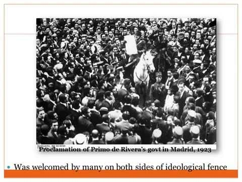 07 Spanish Civil War: short term causes - Primo de Rivera