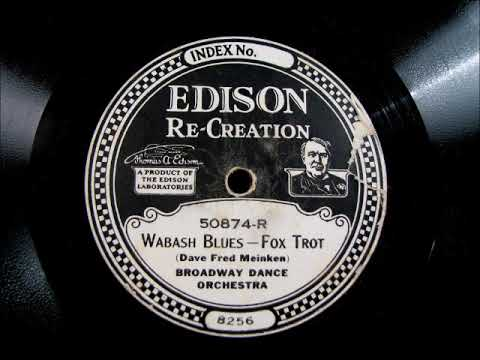 WABASH BLUES by the Broadway Dance Orchestra 1921