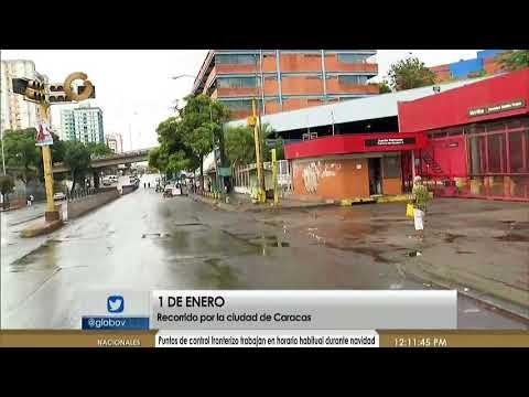 Así están las calles de Caracas este 1 de enero