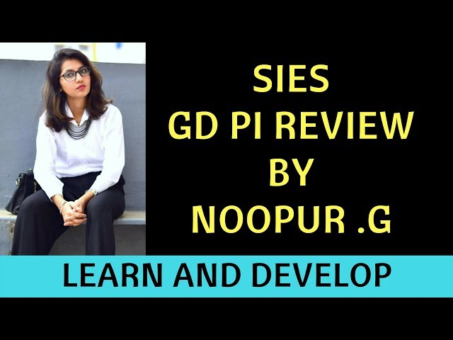 SIES PGDM GD PI Review by Noopur Gaikwad