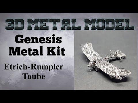 Genesis Metal Model Build - Etrich Rumpler Taube