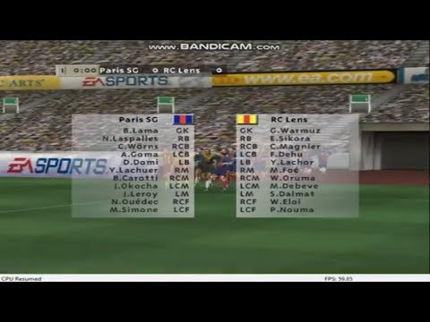 Broadcasting fifa 99 Friendly Match in France match 7 Paris SG vs RC Lens