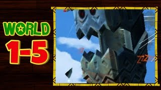 Donkey Kong Country Returns 3D - 1-5 Canopy Cannons All Puzzle Pieces and KONG Letters