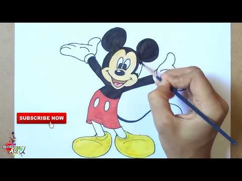 How To Draw Mickey Mouse Easy