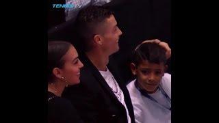 Cristiano Ronaldo, his girlfriend Georgina Rodriguez and Cristiano Jr in London
