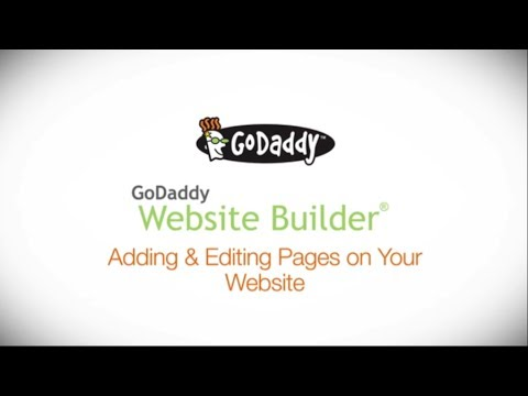How to add pages, hidden from menu bar in godaddy website builder.